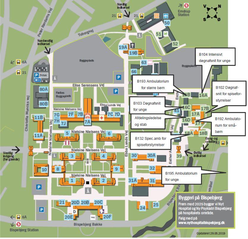 Hillerod Kort Over Nordsjaellands Hospital
